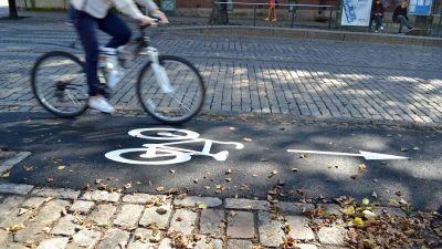 Cykelväg i Helsingfors