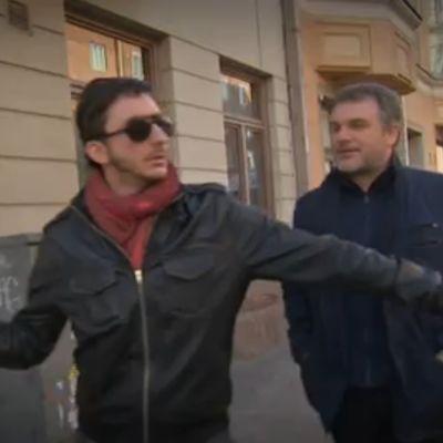Ivan Puopolo ja Lirio Abbatte halkovat Helsingin katuja.