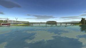 Vy över Lillholmens nya bro, datorbild.