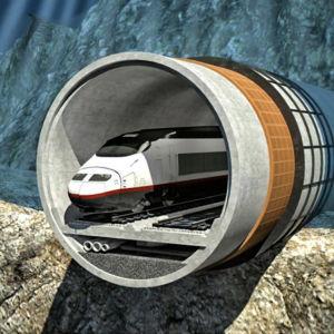 Bild som visar hur tunneln mellan Helsingfors och Tallinn kan se ut