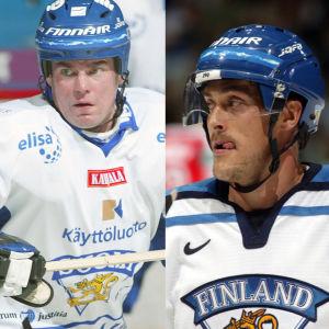 Raimo Helminen, Teemu Selänne, Noora Räty och Mikko Koivu.