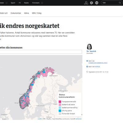 Norjan uusi kuntakartta