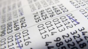 Tabell med nätbankskoder.