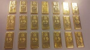 Guld beslagtaget av Tullen.