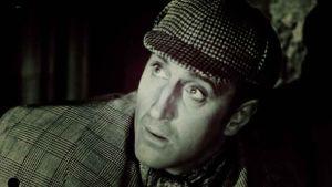 Etsivänero Sherlock Holmes Basil Rathbonen tulkitsemana.