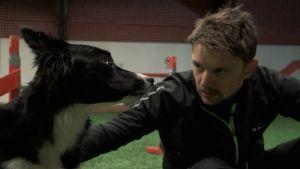 Robban Nilsson och hunden Breeze