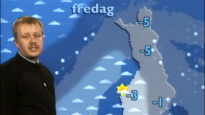 Meteorolog Juha Föhr berättar om vädret, Yl1 1989