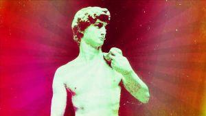 patsas, Daavid, käsitelty kuva