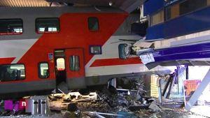 Stor tågolycka på Helsingfors järnvägsstation