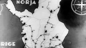 karta över lappland, 1945
