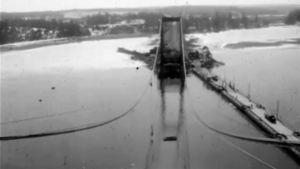 rävsundsbron byggs, 1963