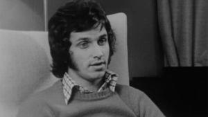 En man som blir intervjuad 1975
