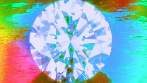 timantti, graafisesti käsitelty kuva