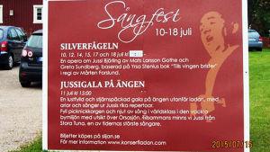 Sångfest-juliste