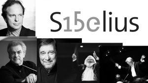 Lahden Sibelius-festivaalin 2015 kapellimestarit Sakari Oramo, Osmo Vänskä, Okko Kamu, Leif Segerstam ja Jukka-Pekka Saraste.