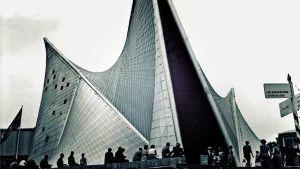 Philips-yhtiön Paviljonki Brysselin maailmannäyttelyssä 1958.