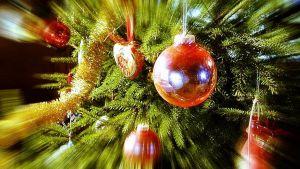joulukuusi, lähikuva, käsitelty
