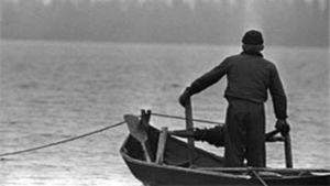 Fiskare vid Jussarö.