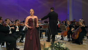 Sopraano Johanna Isokoski Lappeenrannan laulukilpailun 2016 finaalissa
