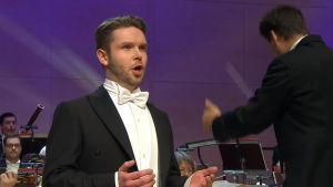 Baritoni Joonas Asikainen Lappeenrannan laulukilpailun 2016 finaalissa