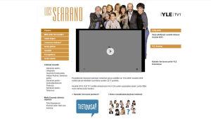 kuvakaappaus Serranon perhe -sarjan nettisivuista