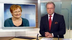Tarja Halosen presidenttikautta käydään läpi Uutisissa.