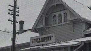 Porkkalan rajan puomi nostettiin ylös 26. tammikuuta 1956.