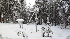 Automatisk väderstation och snömätning i finska Övertorneå