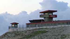 Gränsbevakningstorn vid turkisk-syriska gränsen