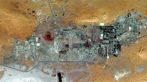Satellitbild av gasanläggningen Amenas