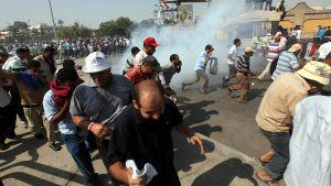 Anhängare till avsatte presidenten Mursi demonstrerar