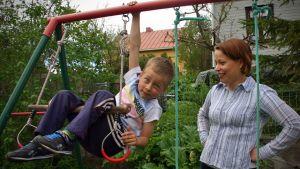 Regina Lindman-Korpi fick ingen hemservice när Kristian och hon själv blev sjuka.