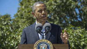 Obama uttalade sig om Egypten i går