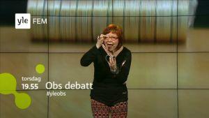 heidi finnila, obs debatt