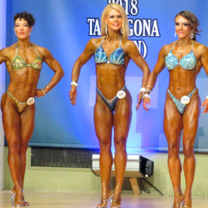 Linda Backlund under tävlingen i body fitness