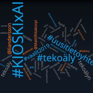 Hashtag-pilvi KIOSKIxAI