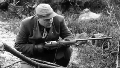 Man på älgjakt, 1962