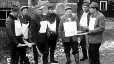 Drevkarlar på älgjakt, 1962