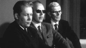 Män på malmletningsinfo. 1970