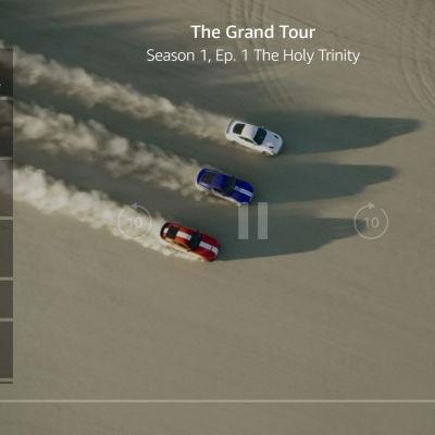 En skärmdump på programmet Grand Tour på Amazon Prime Video.