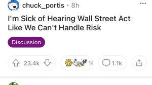 en bildkapning från Reddits finansforum