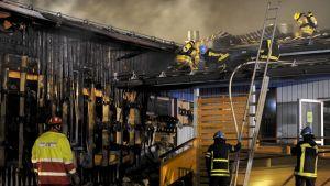 Brand i Esbo på nyåret 2014