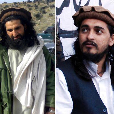 Talibanernas nya ledare Khan Said till vänster och den dödade ledaren  Hakimullah Mehsud till höger.
