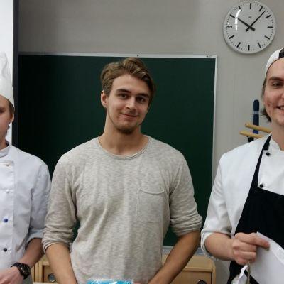 Eetu Huuhka, Werneri Laaksonen ja Sampo Nikko voittivat Suomi 100 -kokkikisan yleisöäänestyksen
