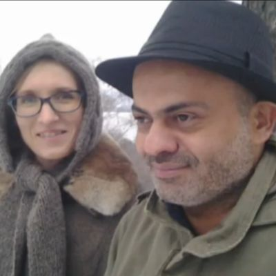 Marjut Tervola ja kirjailija-ohjaaja Hassan Blasim.