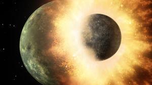 Kuun ja maan törmäys