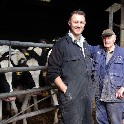 Jordbrukaren Rob Warnock vill lämna EU medan hans pappa Jim Wornack gärna skulle stanna kvar.