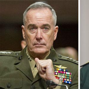 USA:s överbefälhavare general Joseph F. Dunford Jr och Rysslands generalstabschef, armégeneral Valerij Gerasimov.