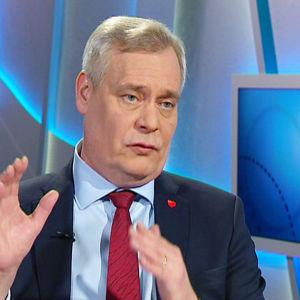 Sdp:s ordförande Antti Rinne i Morgonettan.