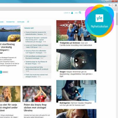 En skärmdump av svenska.yle.fi.